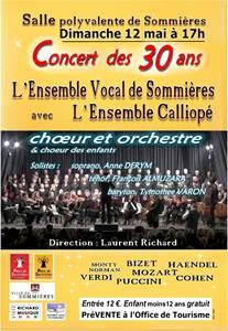 Concert des 30 ans de l'Ensemble Vocal de Sommières