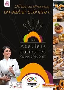Les Ateliers culinaires Saison 2016-2017