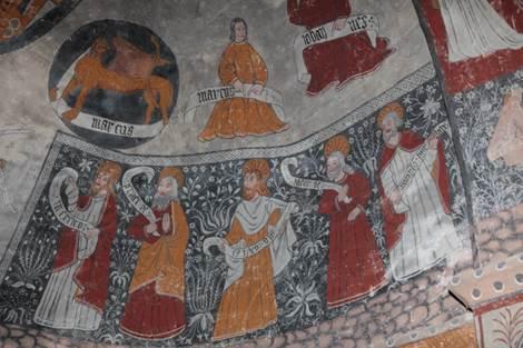 Eglise de Cazeaux Fresques