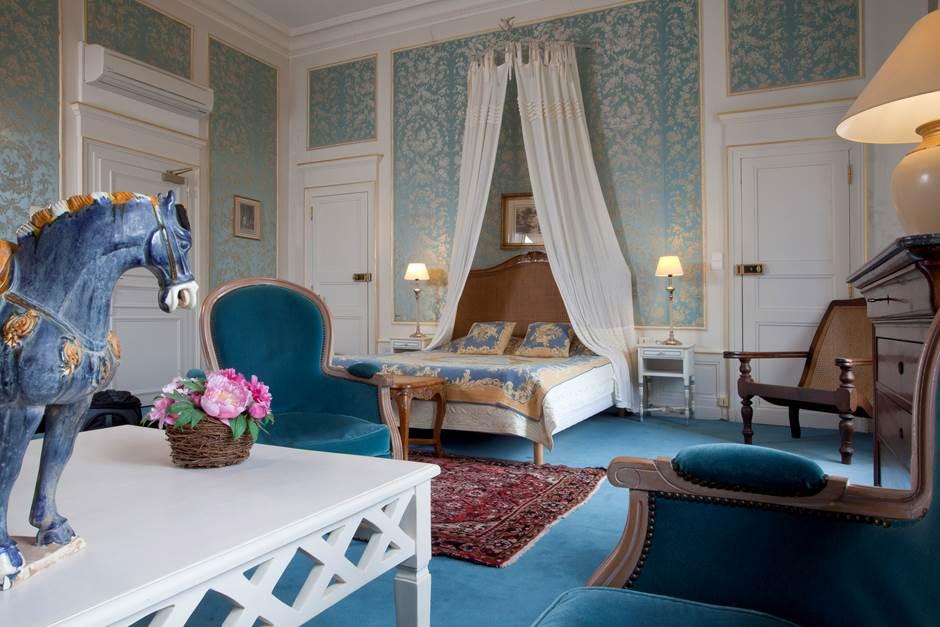 Château d'Ygrande - chambre bleue
