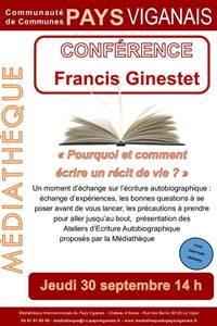 Conférence Francis Ginestet