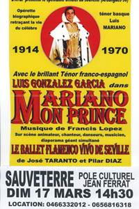 """Spectacle """"Mariano mon Prince"""""""
