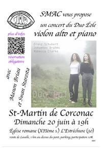 Concert du duo Éole - Corconac
