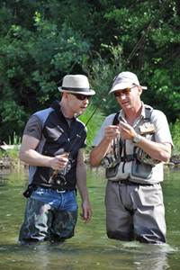 Eric Langlumé, moniteur guide de pêche