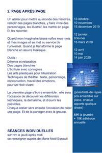 """Atelier """"Page après page"""" - Ecriture, arts plastiques, Théâtre"""