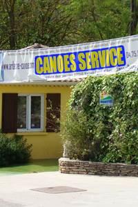 Canoës service
