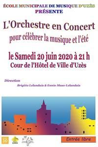 Concert de l'Orchestre de l'école municipale de musique d'Uzès TEST