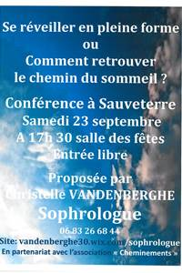 Conférence sur la sophrologie
