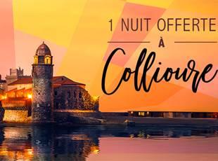 1 nuit offerte à Collioure