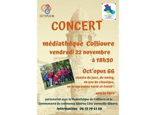 Concert Oct'opus 66 chante du jazz