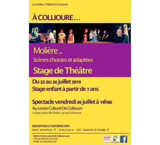 Stage of children's theater - Collioure
