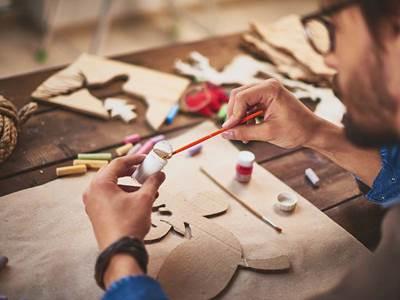 Log Cabin création textile et patchwork