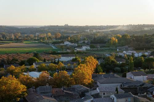 Tour de l'horloge de St-Quentin la Poterie vue panoramique sur Uzès et duché © Crédit photos H Brahic
