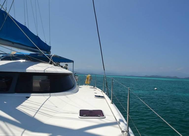 Vue du Catamaran